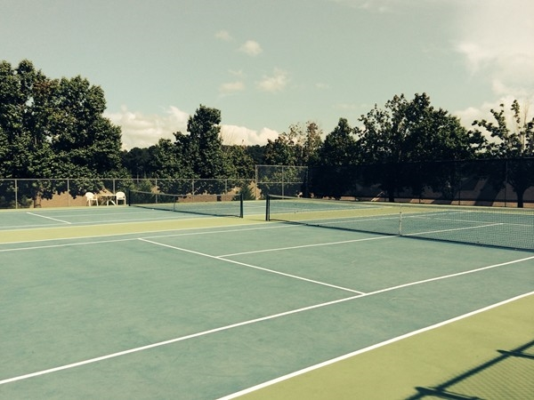 How about a tennis match at these wonderfully updated courts at Fox Bay!