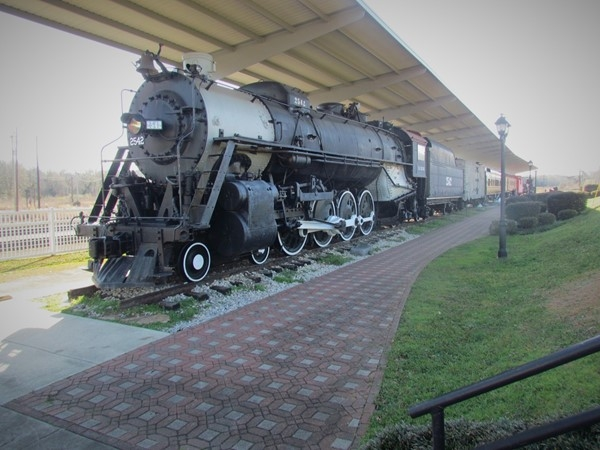 Steam locomotive at the McComb Railroad Depot Museum