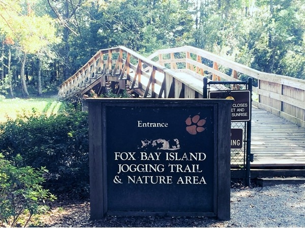 Go for a run or walk your dog on the nature trail in Fox Bay