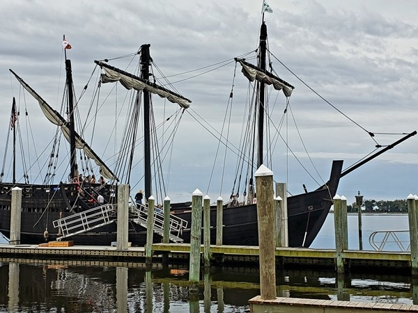 "The ships of Columbus, the Pinta and Nina, ""discovered"" Biloxi and the Mississippi Gulf Coast"