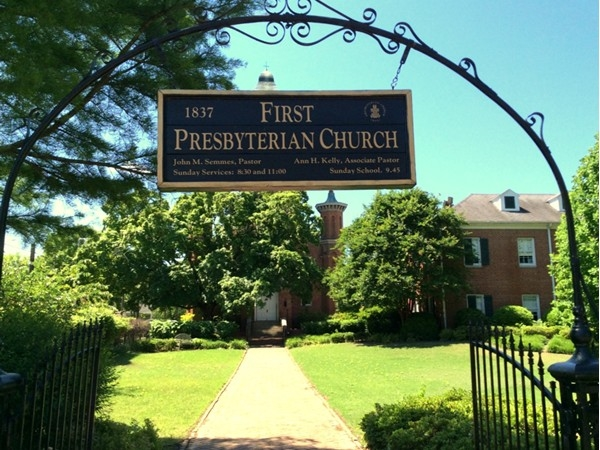 First Presbyterian Church is just across the street from Bottletree Bakery