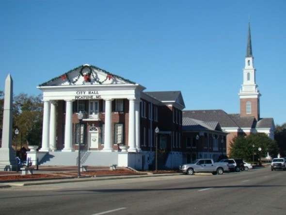 Picayune Ms City Hall, located on Goodyear Blvd. This is the home to the Veterans Brick Memorial.