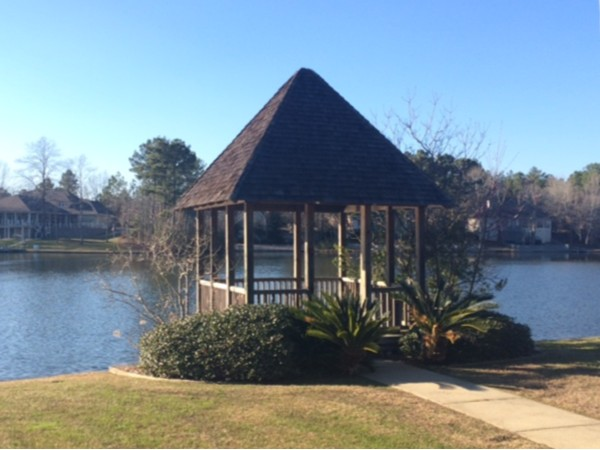 Waterford's gazebo for homeowners to enjoy the lake views and sunsets