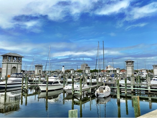 The scenic Gulfport Harbor