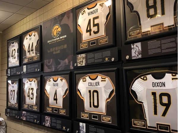Wall of Fame at University of Southern Mississippi